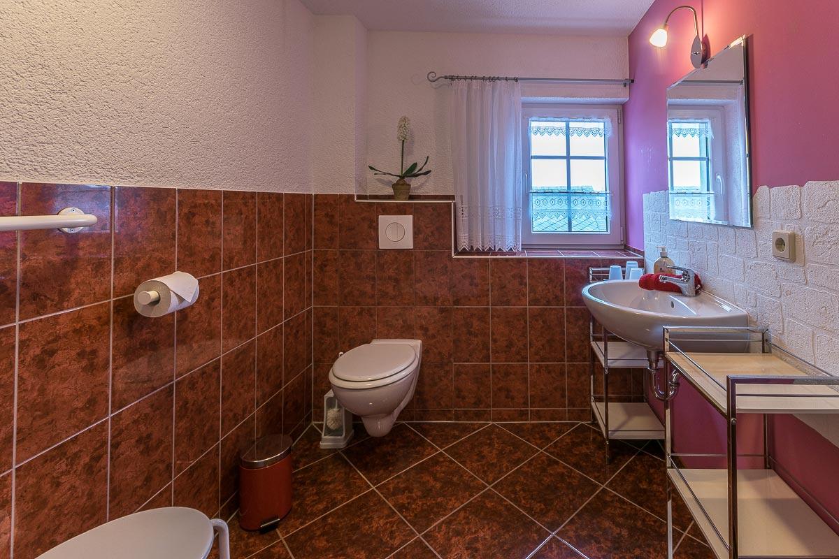 Ferienwohnung Adamsberg - Badezimmer2 mit WC