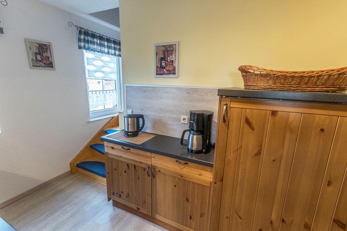 Ferienwohnung Lilienstein - Küche mit Kaffeemaschine