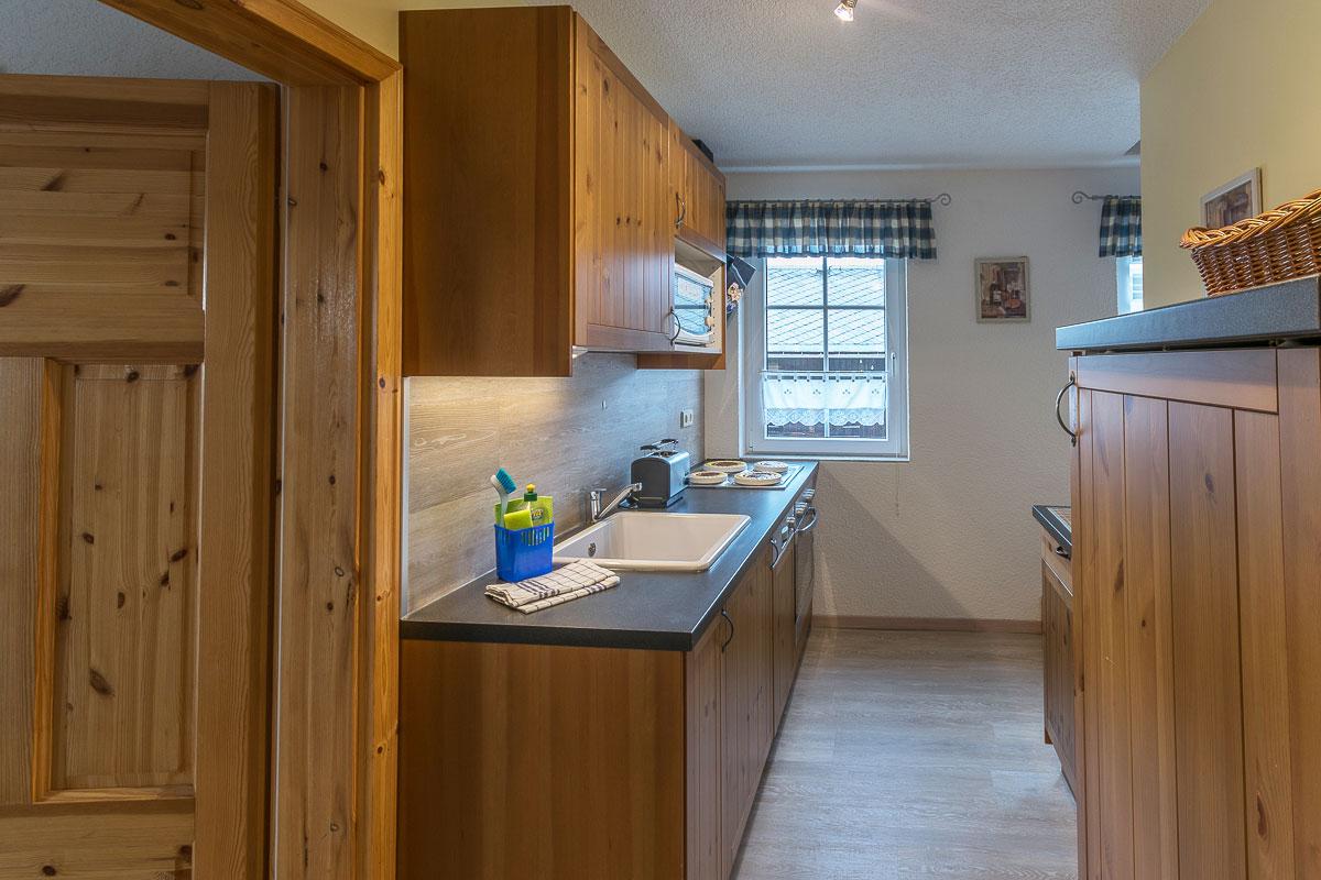 Ferienwohnung Lilienstein - Küche mit Küchenzeile