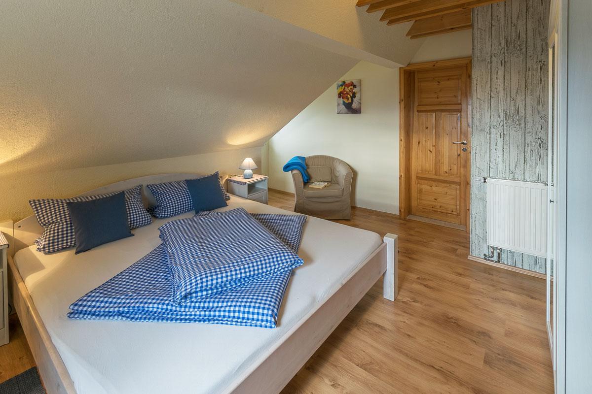 Ferienwohnung Lilienstein - Schlafzimmer2 mit Doppelbett