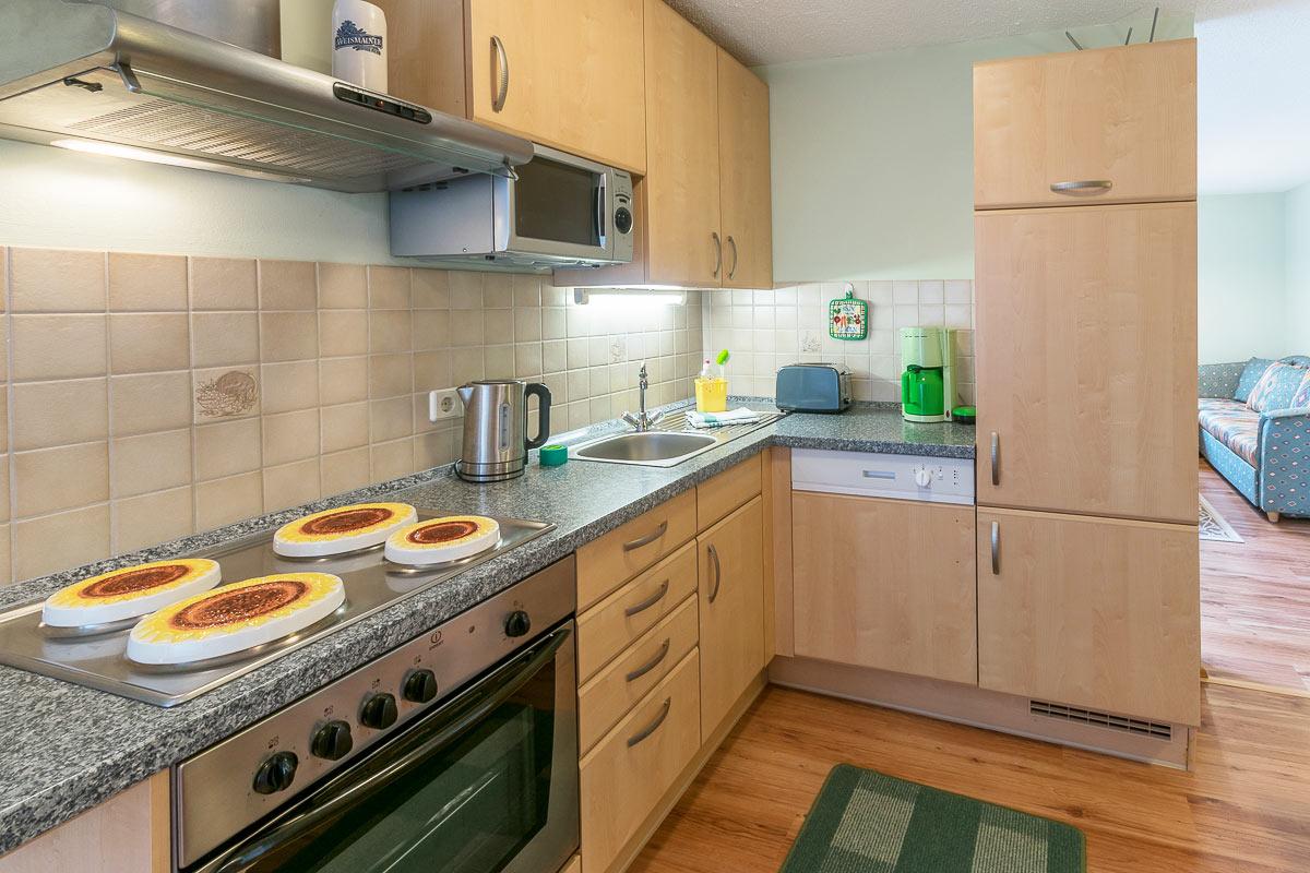 Ferienwohnung Pfaffenstein - Küche mit Küchenzeile