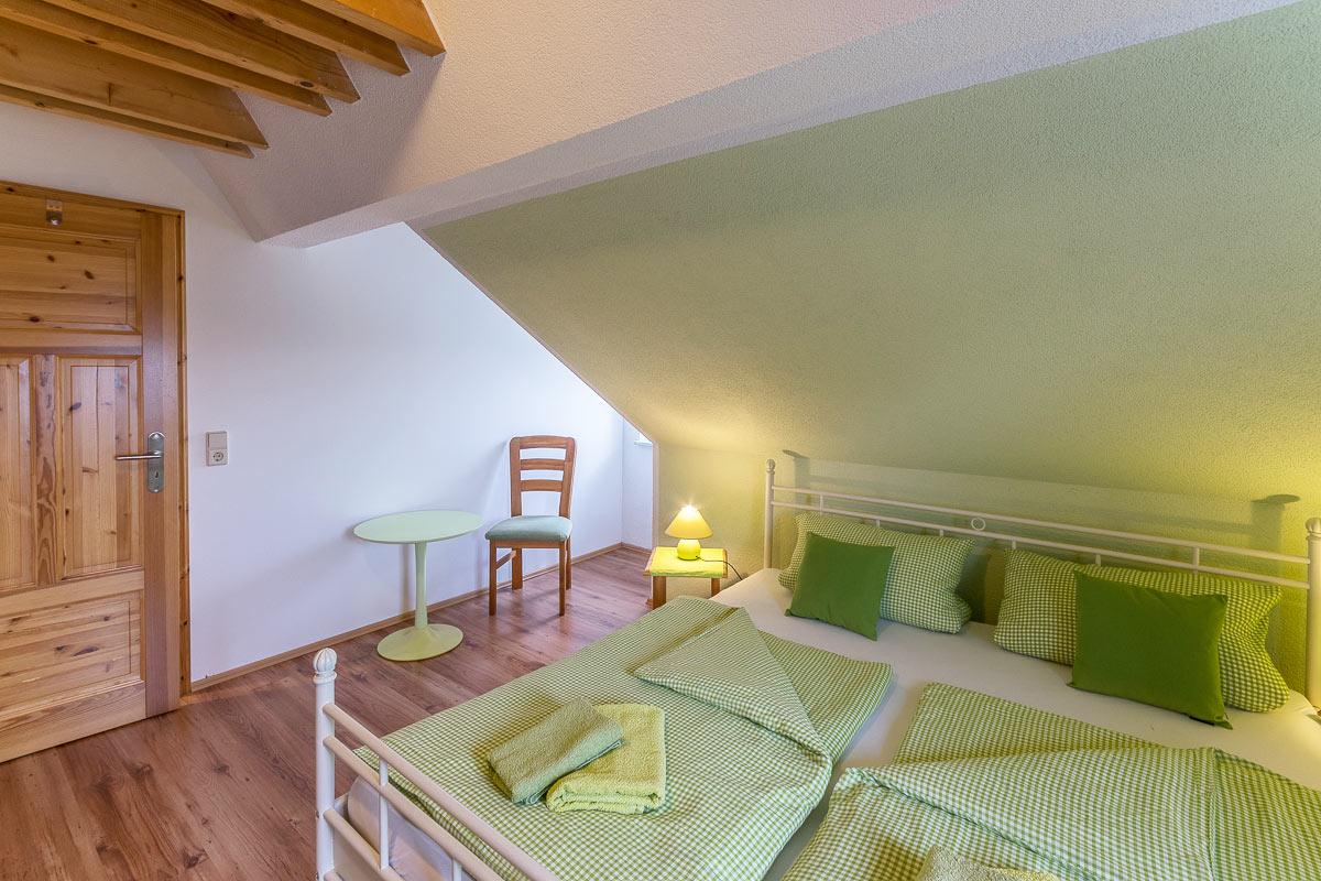 Ferienwohnung Pfaffenstein - Schlafzimmer1 mit Doppelbett