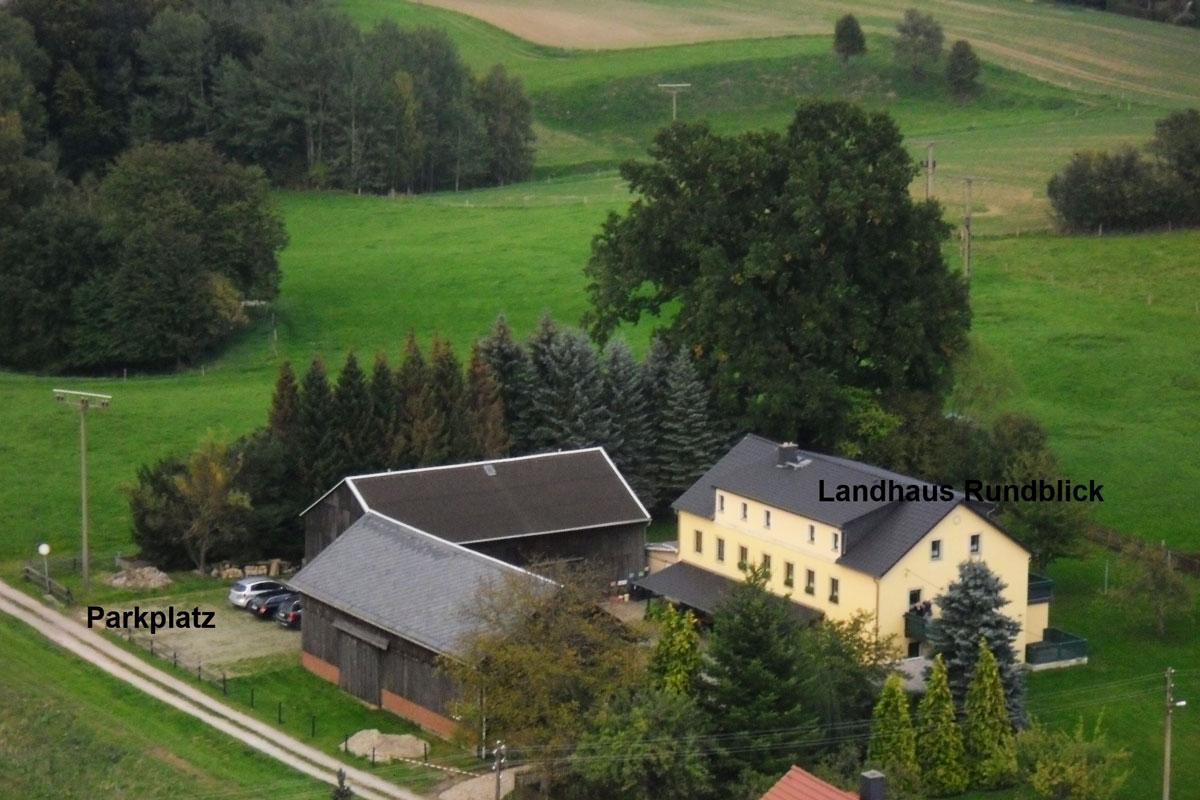 Landhaus Rundblick Luftbild